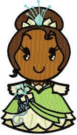 Disney Cuties Teana machine embroidery design. Machine embroidery design. www.embroideres.com
