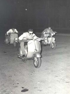 heart, old dogs, vespas, racing, garages