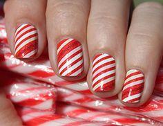 nail polish, holiday nails, christmas nails, nail art ideas, nail arts, candy canes, winter nails, christmas nail art, the holiday