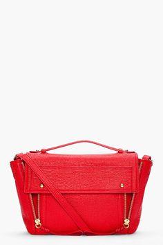 3.1 PHILLIP LIM Red Pashli Messenger Bag
