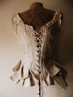Book Page Corset