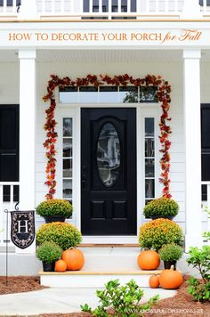 How to decorate your porch for fall | A Bowl Full of Lemons