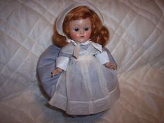 VINTAGE 1952 GINNY DOLL PRISCILLA ALDEN FROLICKING FABLES SERIES, PAINTED LASHES #Vogue #doll