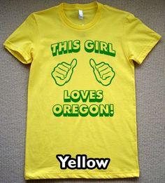 #GoDucks color pallett, t shirts, oregon tshirt