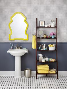The next big thing is here now: The Ladder Shelf! #hgtvmagazine http://www.hgtv.com/decorating-basics/5-ways-to-use-a-ladder-shelf/pictures/page-5.html?soc=pinterest