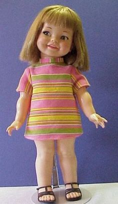 Giggle doll that laughed when you moved her arms.