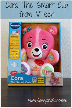 Savvy and Sassy: VTech Cora The Smart Cub {Review & Giveaway}