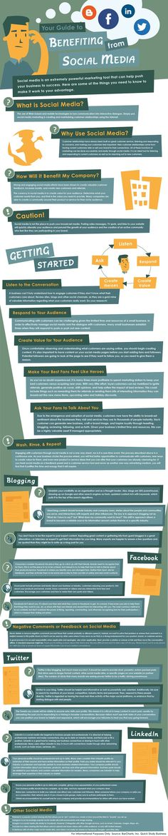 Your Guide to Benefiting from #SocialMedia - #infographic #business