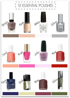 Essential polishes everyone should have onboard!