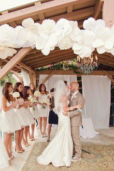 Ceremony decor ~ paper flower garland