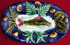 French Francois Maurice Fish Platter 1880