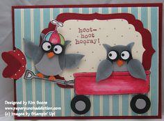 Owl punch slider card  Stampin' Up!