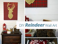 What do you get when you add #gold glitter + #plaid + a #deer silhouette? The answer…this fabulously festive #holiday project!