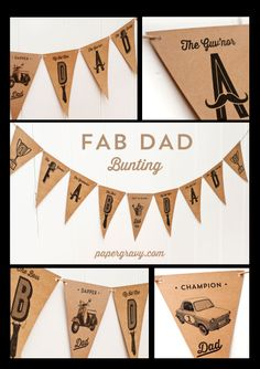 fathers day bunting
