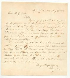 Kalamazoo Museum- Letter from Lincoln
