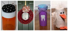 sooo ... that's what you do with empty prescription bottles .... I like the tooth idea