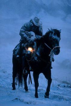 cowboy, hero, horses, winter looks, snow