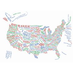 USA literary map
