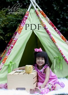 Tent or Tee Pee This is adorable make your own out of old bed sheets and pvc pipe.. how cute