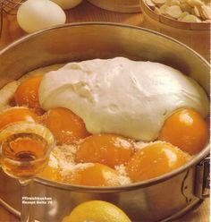 Creamy Peach Cake - German Recipes - German Food | My Best German Recipes
