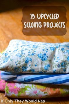 twin, 15 upcycl, upcycl sew, sewing projects, sew project, project ideas, cuff bracelets, blues, blue roses