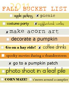 Ya fall!!! My most favorite, favorite time of the year! :)
