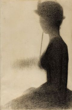 Seated Woman with a Parasol, Georges Seurat