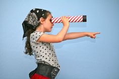 Girls are pirates too! Learn how to make fun pirate accessories.