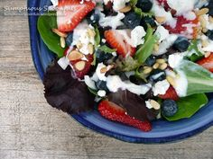 goats, salad recipes, dressings, lime, blueberri salad, gingers, blueberries, goat cheese, honey