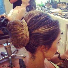 Elegant braided bun hairstyle inspiration