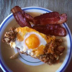 The Morning After Thanksgiving Breakfast - stuffing and eggs
