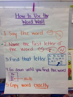 This is great...because what good is the word wall if the kids don't know how to use it?!