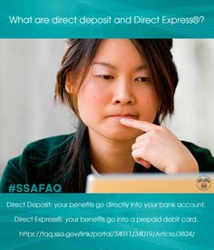 2 ways to receive your monthly benefits: #DirectDeposit & #DirectExpress. Read about them @ https://faq.ssa.gov/link/portal/34011/34019/Article/3824/