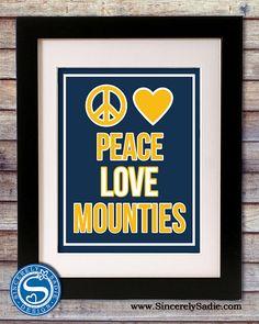 West Virginia University Mountaineers by SincerelySadieDesign, $9.95