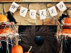 halloween decorations, vintageinspir halloween, vintage halloween, halloween banner, mustard seeds, halloween decorating ideas, vintage inspired, wicked, banners
