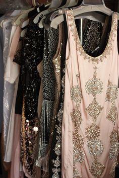 Party dresses.