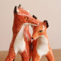Woodland wedding cake toppers foxes par HandyMaiden sur Etsy, $190,00