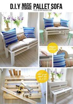 Sofá de palete! #DIY, lindo