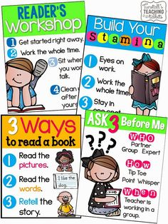 Kick Start Guided Reading!  Free Posters