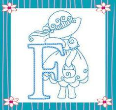 Sunbonnet Alphabet alfabeto, bagoefilo, sunbonnet sue, aplicacio, bordado, alphabet, abecedario, embroidery, embroideri