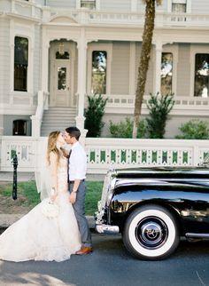 One classy black vintage Mercedes wedding car because wedding cars don't have to be white via http://kissandtellblog.tumblr.com/post/62873732610/black-mercedes-wedding-car