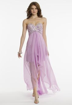 Grecian High-Low Prom Dress by Camille La Vie