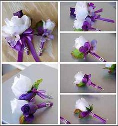 quinceanera centerpieces 2013 | ... set-Purple-Lavender-Boutonniere-Corsage-Wedding-Groom-Prom-Quinceanera