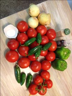 4 Healthy Recipe Ideas for the 4th of July! DMR: Uses onions, tomatoes, green peppers, and jalapenos from the garden...plus tomato paste, vinegar, and seasonings....Ninja it all then boil it all...sounds simple! My kind!