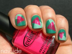 Awesome triangular #Nails