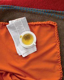 sew, idea, craft, wool blanket, braid edg, martha stewart, blankets, fleec blanket, custom