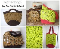 ~Two FREE crochet Market Bag patterns~ #cre8tioncrochet