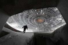 That guy was never heard from again.  Also, this is the Buzludzha monument in Bulgaria.  Apparently where the aliens have been all this time.