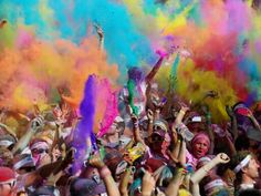Color run. 5k run. Must start the race in white. By the end of the race you are covered in colored powder.