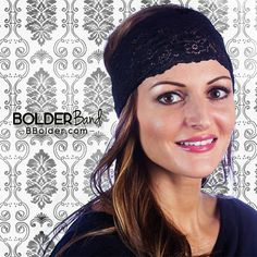 Be the bold, beautiful you in a Noir Lacy Bolder Band Headband. They stay fit so you won't have to!